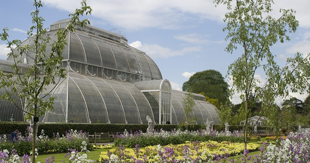 The glasshouse at Royal Botanic Gardens, Kew, UK