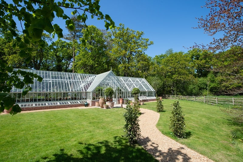 The Alitex Greenhouse at Lime Wood in the New Forest
