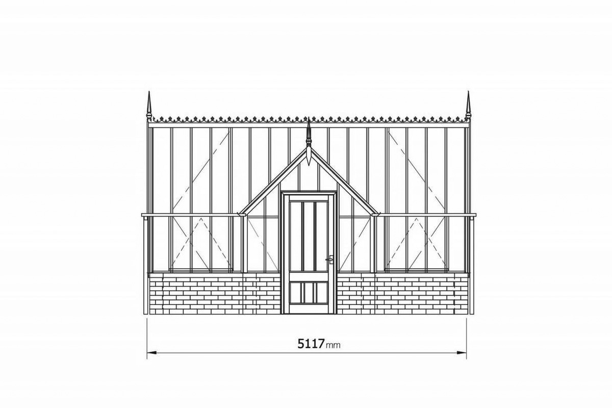 The Fortrey Greenhouse (design drawing) from the Kew Collection